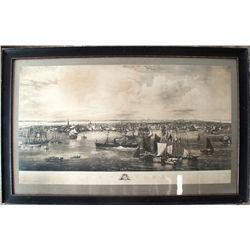 1855 print of New York harbor