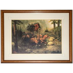 Stage to Deadwood DeHaan Signed Lithographic Print