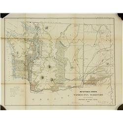 Map of Public Surveys, Washington Territory, 1863