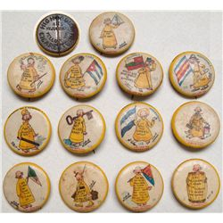 Collection of 13 Little Yellow Kid pins