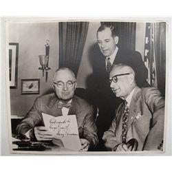 Harry Truman autographed picture