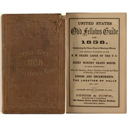 United States 1858 Odd Fellow Guide
