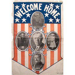 Welcome Home World War I broadside.