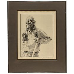 Limited edition signed print of  Pueblo Man of Wisdom