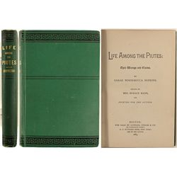 Life Among the Piute's, First edition