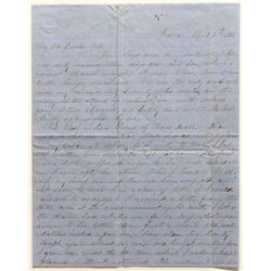 1856 Gold Rush letter from Jackson, California
