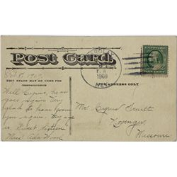 R-7 Barclay, Lincoln, Nevada postal history post card