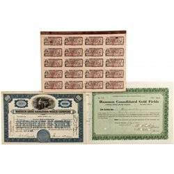 Alaska Stock Certificate Group plus Coupon Sheets