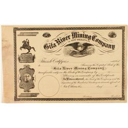 Gila River Mining Co. of New Orleans, Louisiana Stock Certificate