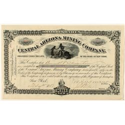 Central Arizona Mining Company Stock Certificate 1882