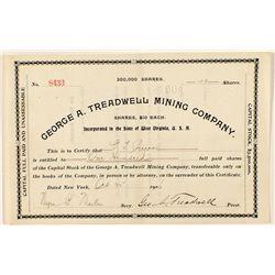 George A. Treadwell Mining Company Stock