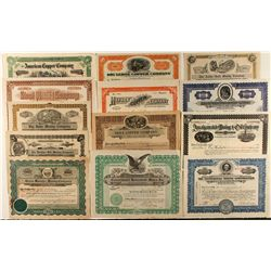 Yavapai County Stock Certificate Group (13)