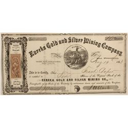 Eureka Gold & Silver Mining Co. Stock Certificate