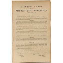 West Point Quartz Mining Laws