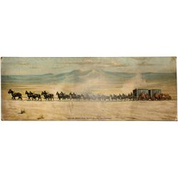 20 Mule Team hauling Borax in Death Valley, Federal Litho Company