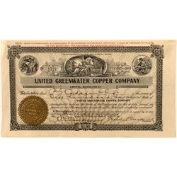 United Greenwater Copper Co. Stock Certificate, Death Valley