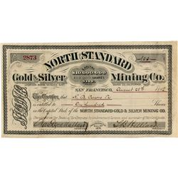 North Standard Gold and Silver Mining Company Stock Certificate