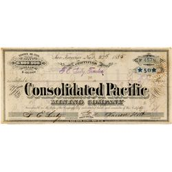 Consolidated Pacific Mining Co. Stock Certificate