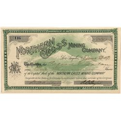 Northern Cross Mining Co. Stock Certificate 1893