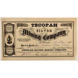 Tecopah Silver Mining Co. Stock Certificate