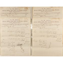 G.W. Bell Assay Office Memorandums (Set of Four)