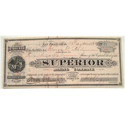 Superior Mining Stock Certificate
