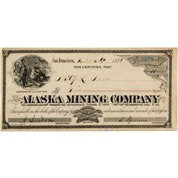 Alaska Mining Company Stock Certificate
