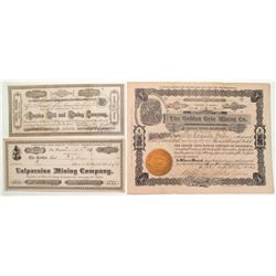 Californian Mining Company Stock Certificates