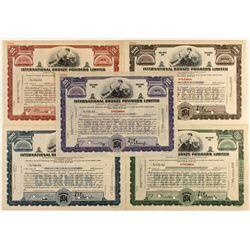 International Bronze Powders, Ltd. Specimen Stock Certificates
