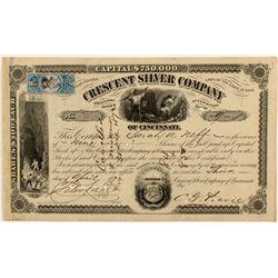 Crescent Silver Co. Stock Certificate