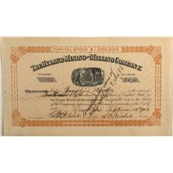 Hyland Mining and Milling Company 1902 Stock Certificate