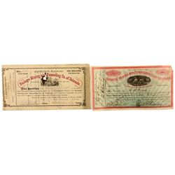 Buckeye Mining and Tunneling Co. of Colorado Stock Certificates