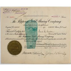 Pappoose Gold Mining Co. Stock Certificate