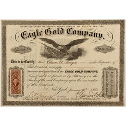 Eagle Gold Company Stock Certificate