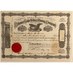 Reliance Gold & Silver Mining Co. Stock Certificate