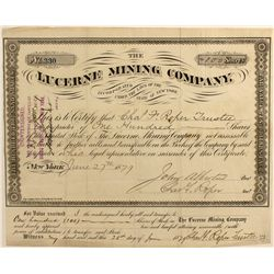 Lucerne Mining Co. Stock Certificate