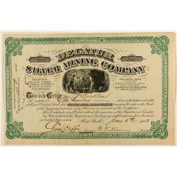 Decatur Silver Mining Co. Stock Certificate