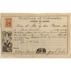 Gilpin County, Colorado Territorial Claim Document
