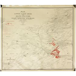 Map of Lower Clear Creek & Gilpin Counties, Colorado