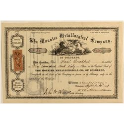 Mounier Metallurgical Co. Stock Certificate