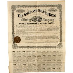 The Gold and Silver King Mining Company 1st Mortgage Bond