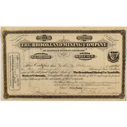 Brookland Mining Co. Stock Certificate