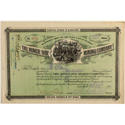 The Miner Boy Mining Co. Stock Certificate
