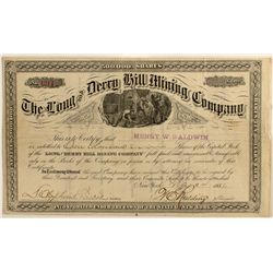 Long and Derry Hill Mining Co. Stock Certificate