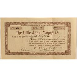 Little Annie Mining Co. Stock Certificate