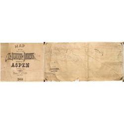 Mining Claims North of Aspen Map 1888