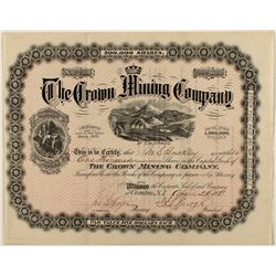 Crown Mining Co. Stock Certificate