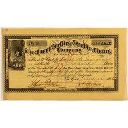 Mount Sneffles Terrible Mining Company Stock Certificate