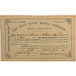 Blue River Mining Company Stock Certificate