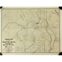 Map of Prescott & Tributary Mining Districts, 1895